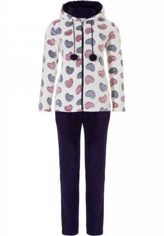 Rebelle dames huispak fleece 'Hearts'